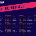 ICC T20 World Cup 2020 - Schedule, Fixtures, Venues & Group list