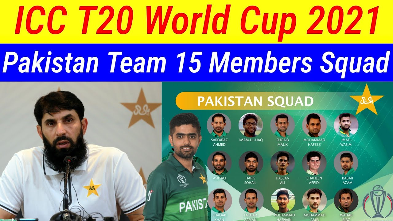 Pakistan Squad Team Squad for T20 World Cup 2021